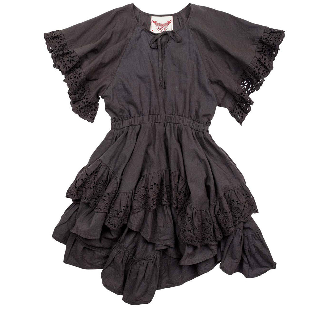 paper wings lace frilled swing dress
