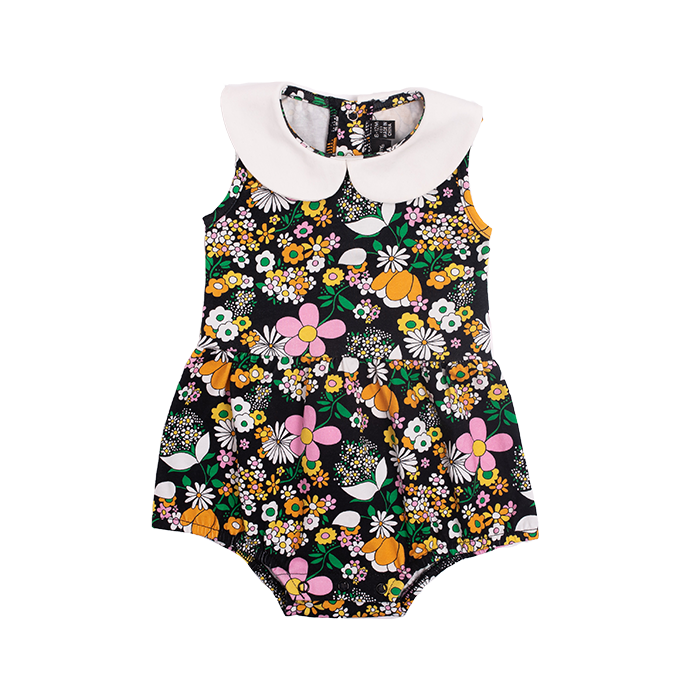 rock your baby jean - peter pan collar bodysuit