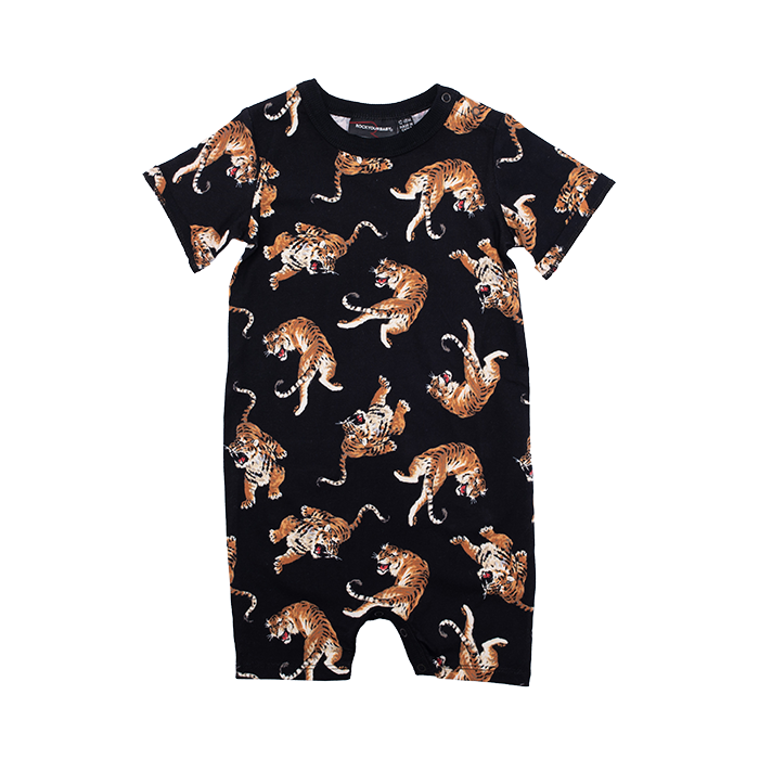 rock your baby jean - tiger baby s/s playsuit