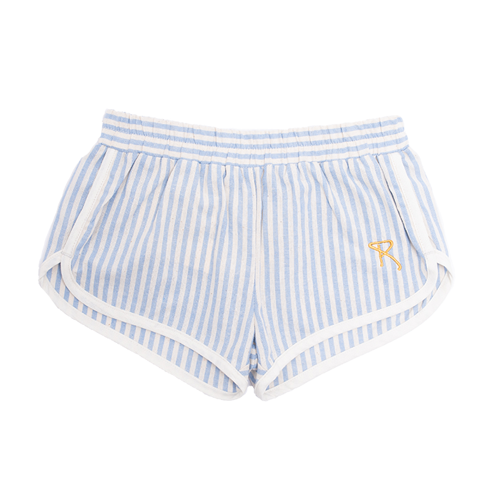rock your baby blue stripe charlie - jogger shorts