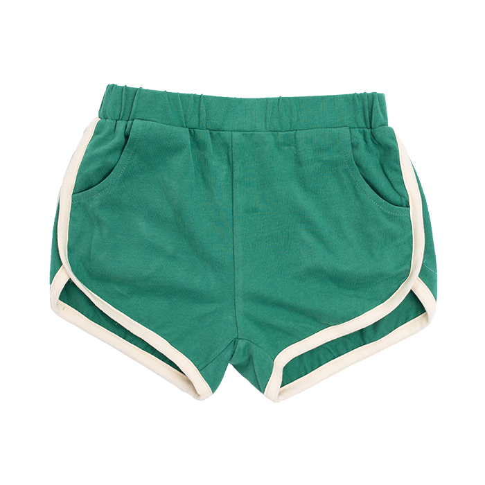 rock your baby  green farrah - jogger shorts