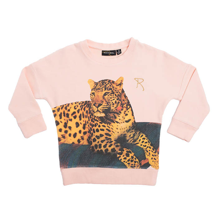 rock your kid leopard sweatshirt