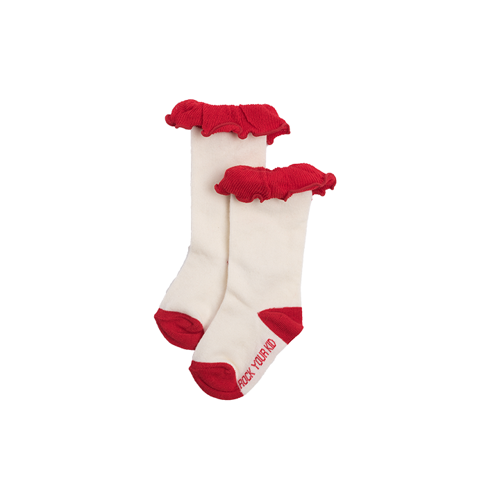 rock your kid my funny valentine mid length ruffle socks