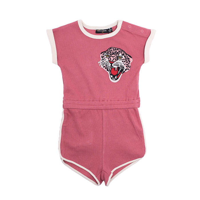 rock your baby - rouge leopard romper