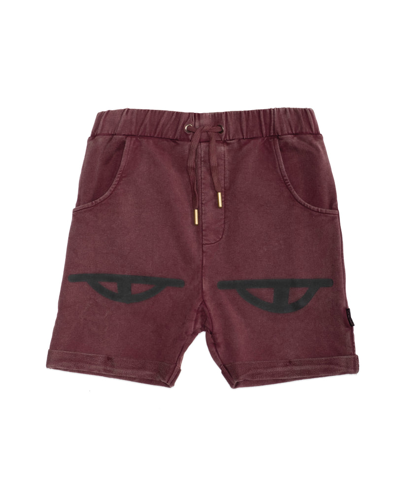 band of boys eyes vintage red shorts