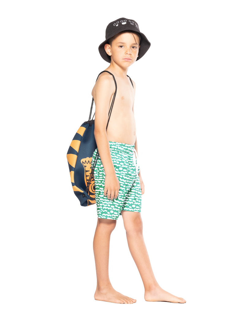 band of boys stripe repeat green boardies