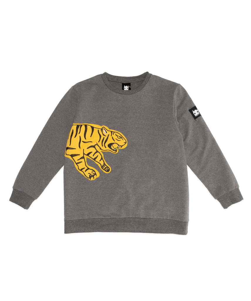 band of boys puncing tiger jumper