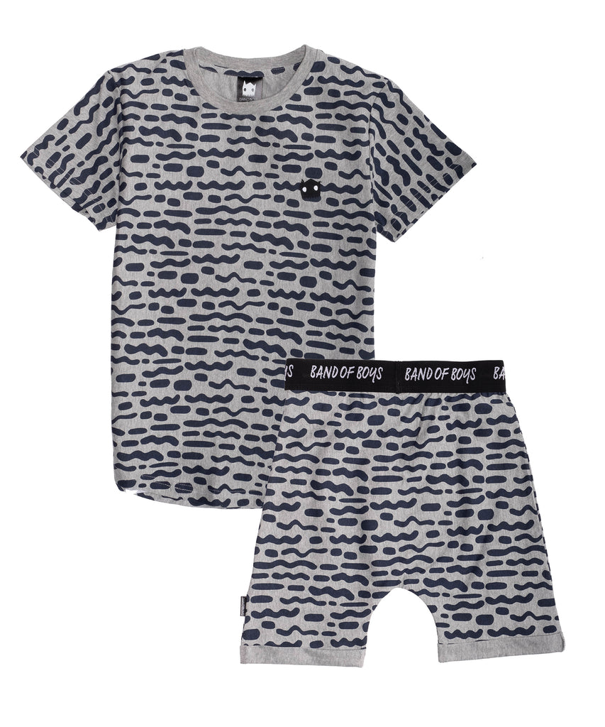 band of boys stripe repeat pj set