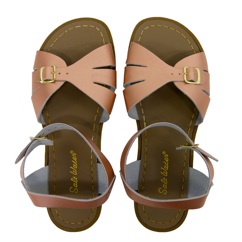 salt water sandals women's classic- rose gold