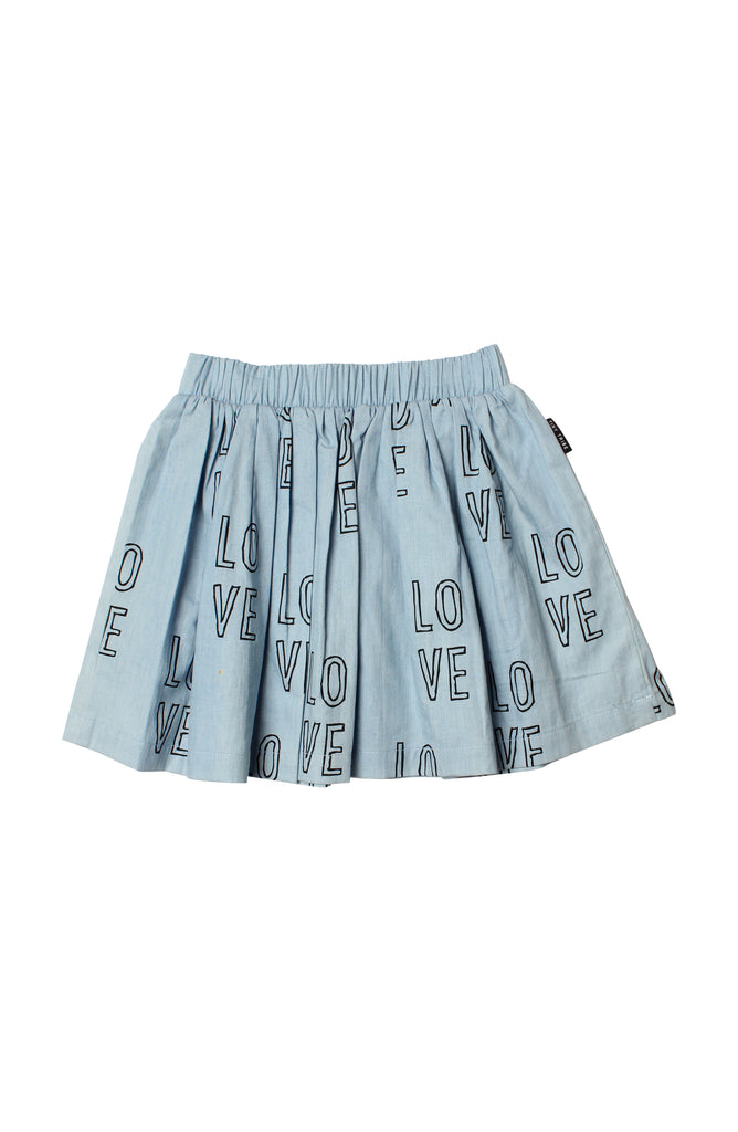 TINY TRIBE LOVE SKIRT - chambray