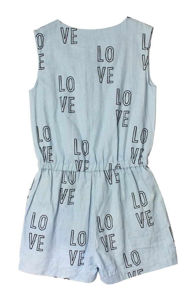 TINY TRIBE LOVE PLAYSUIT - chambray