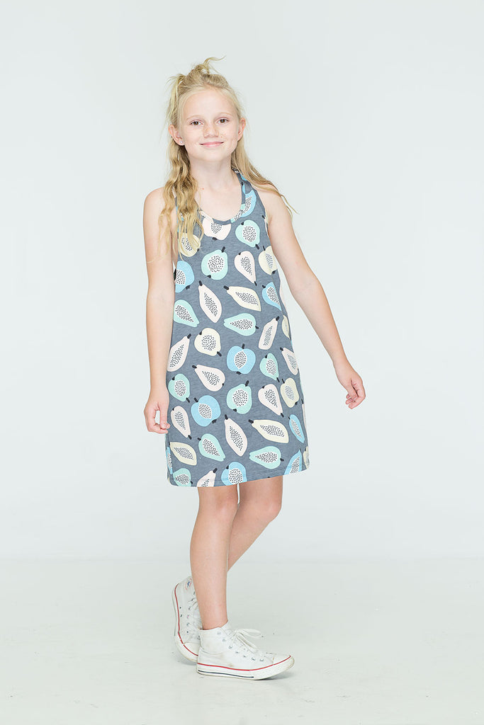 ZUTTION KIDS PAPAYA SINGLET DRESS