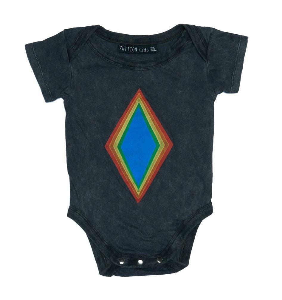 ZUTTION KIDS RAINBOW DIAMOND ONESIE