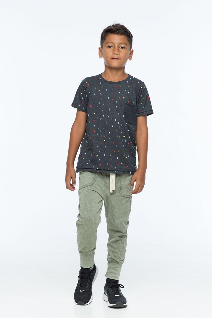 ZUTTION KIDS S/S ROUND NECK TEE - SHAPES