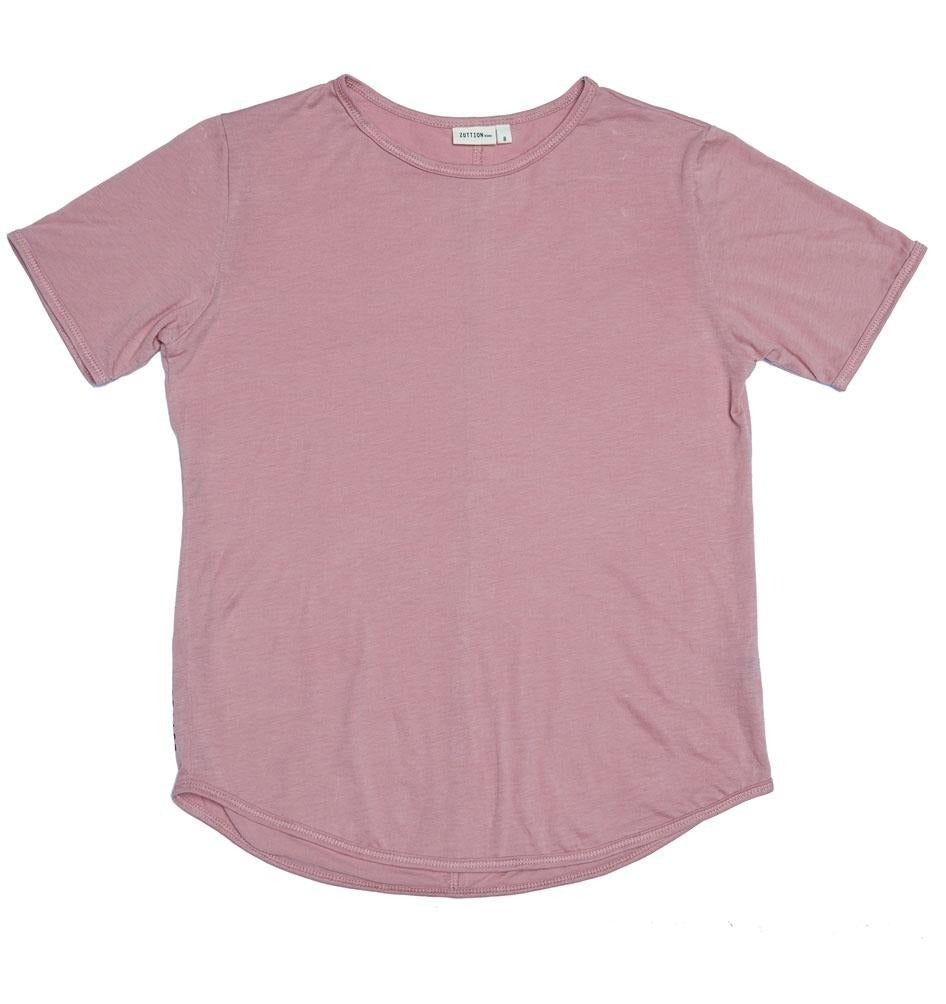 ZUTTION KIDS ORGANIC COTTON S/S ROUND NECK TEE - DUSTY PINK