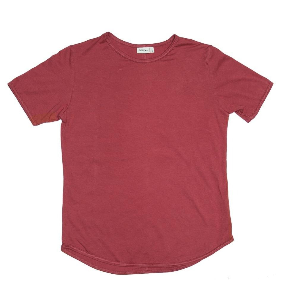 ZUTTION KIDS ORGANIC S/S ROUND NECK TEE - RUBY