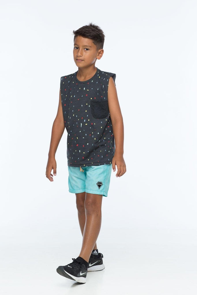 ZUTTION KIDS SHAPES TANK TEE