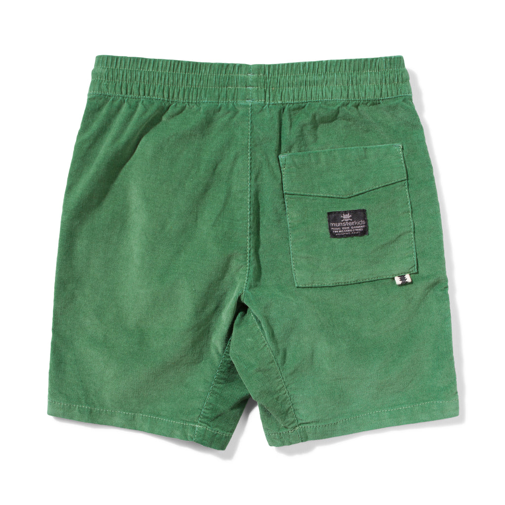Munster kids shorts beat up green