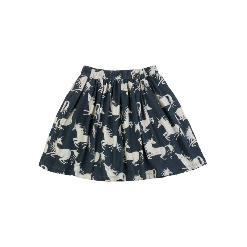 paper wings gathered skirt- unicorns