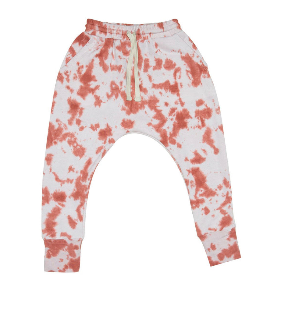 ZUTTION KIDS LOW CROTCH TRACKIE PANTS - SALMON