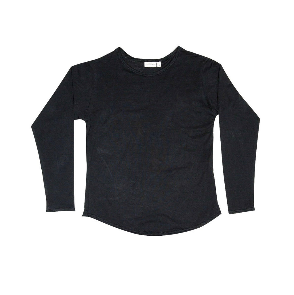 ZUTTION KIDS L/S ORGANIC TEE - CHARCOAL