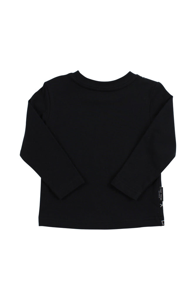 TINY TRIBE - XOX LONG TEE - BLACK