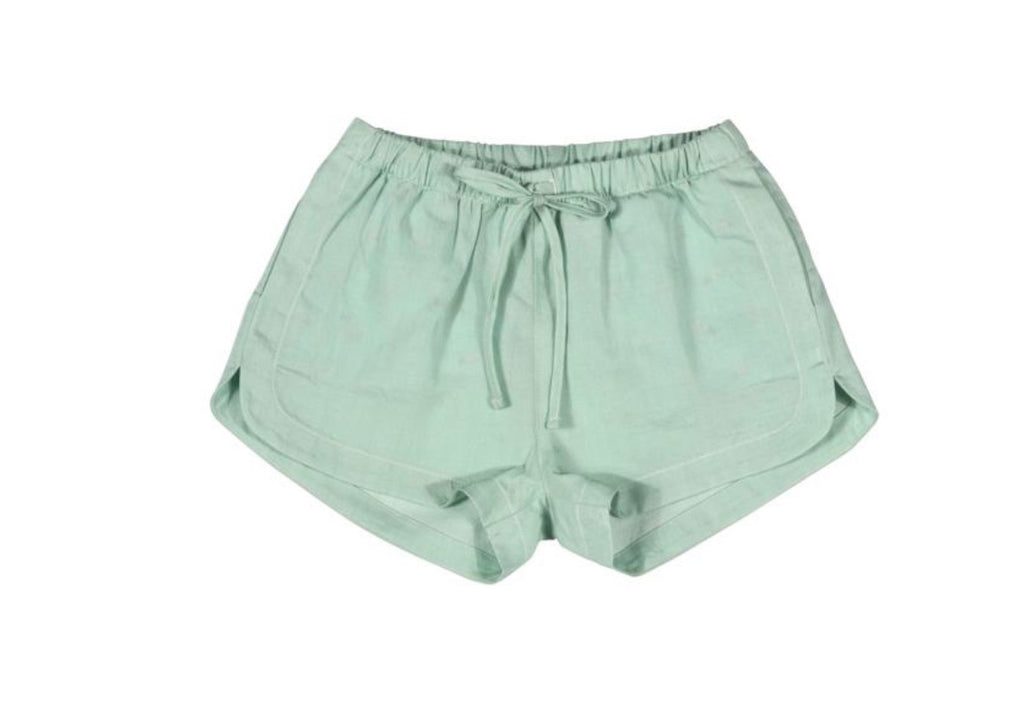 paper wings chambray shorts - mint