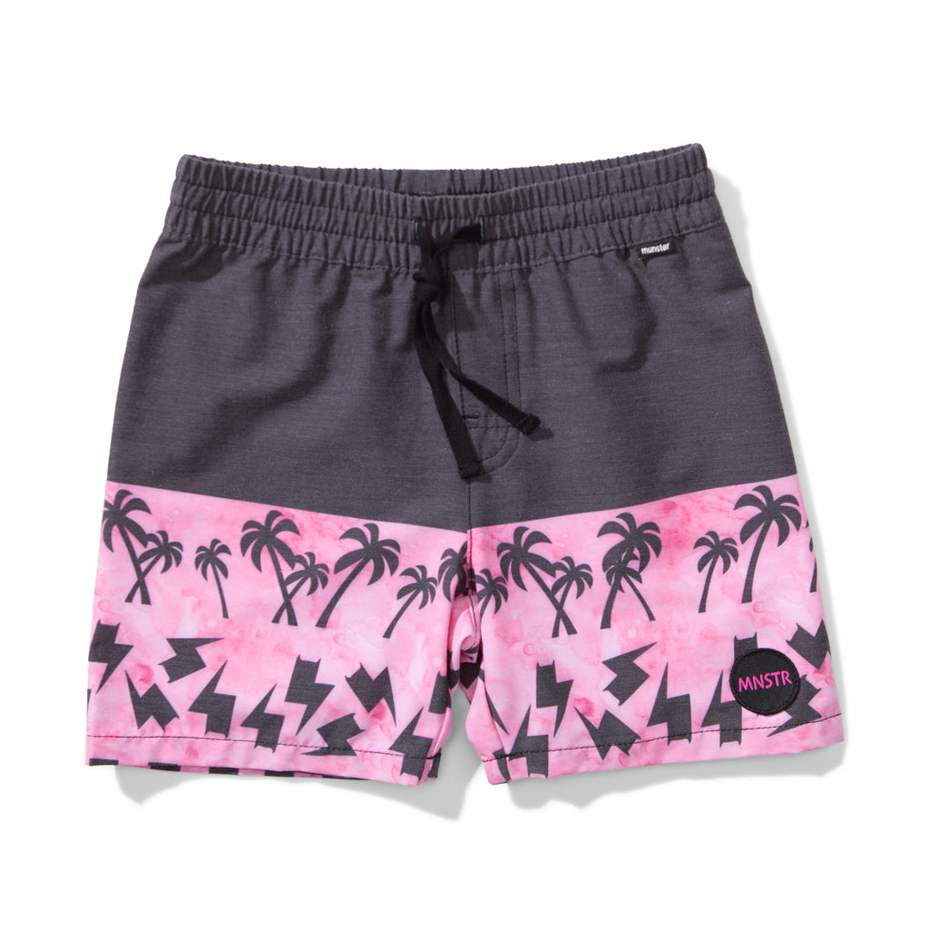 Munster kids -  Checker Bolt Boardshorts