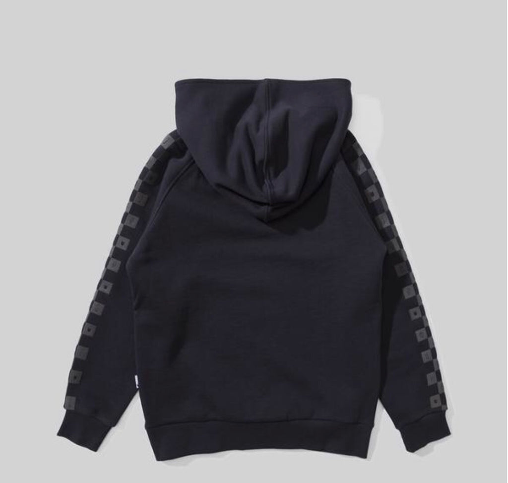 Munster kids Checker hoodie soft black