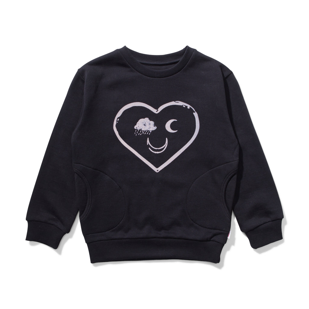 missie munster free fleece jumper soft black