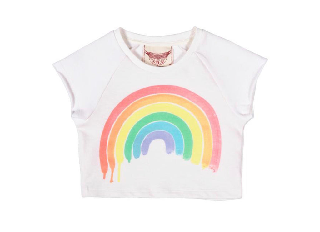 paper wings cropped sweater - rainbow