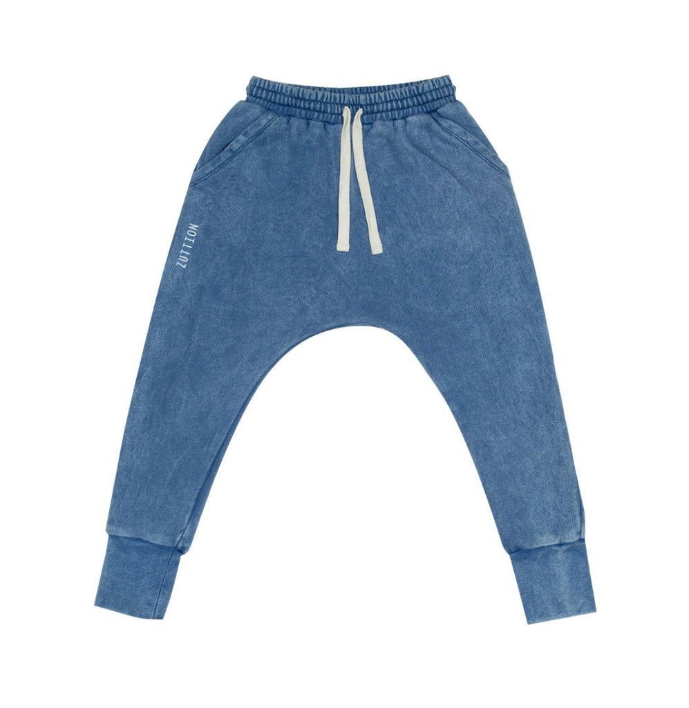 ZUTTION KIDS LOW CROTCH TRACKIE PANTS - NAVY