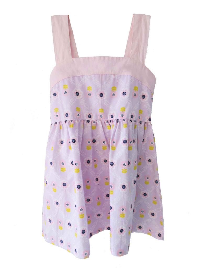 Oobi - Sally Dress - Lilac Diamond Flower