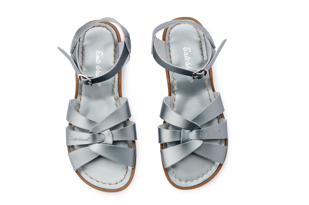Salt water sandals children's pewter