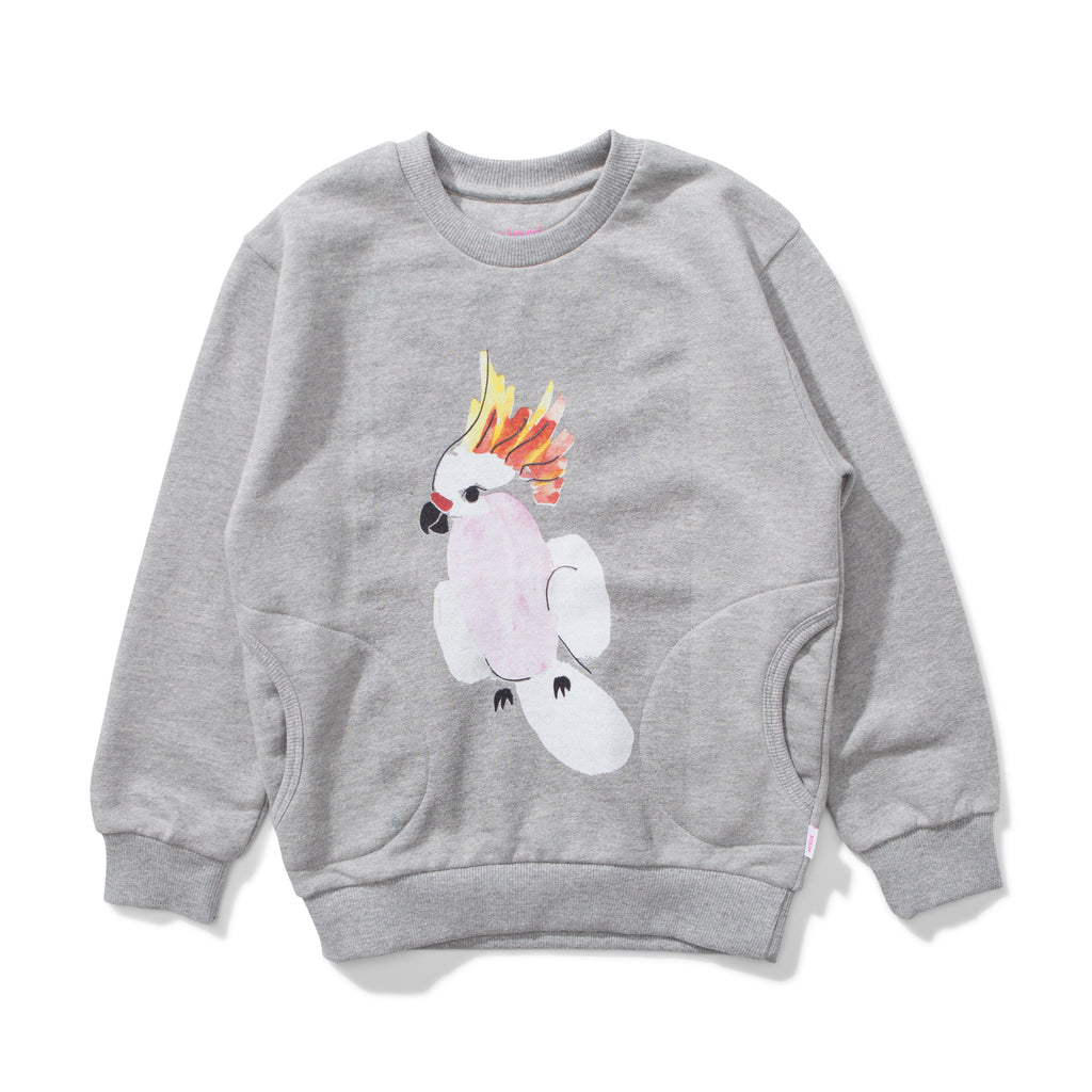 missie munster gallah fleece jumper grey marble