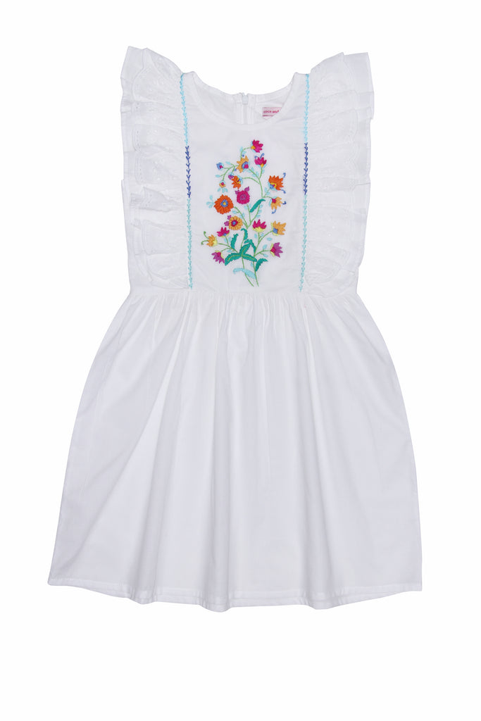 Coco & Ginger Viola Dress - Eggshell with Hand Stitch