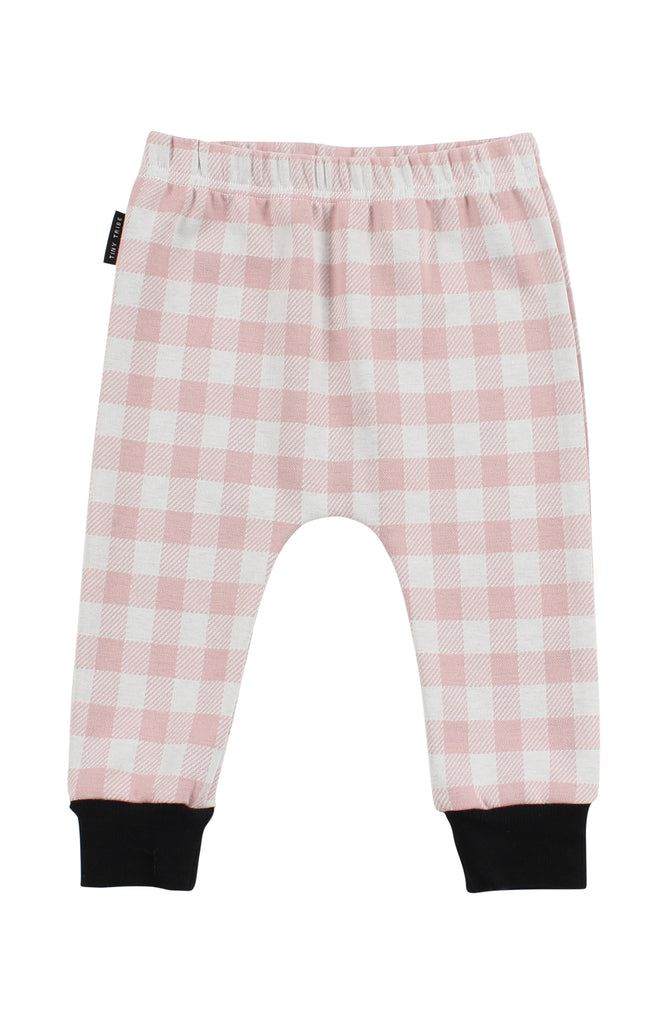 TINY TRIBE PINK CHECK PANT