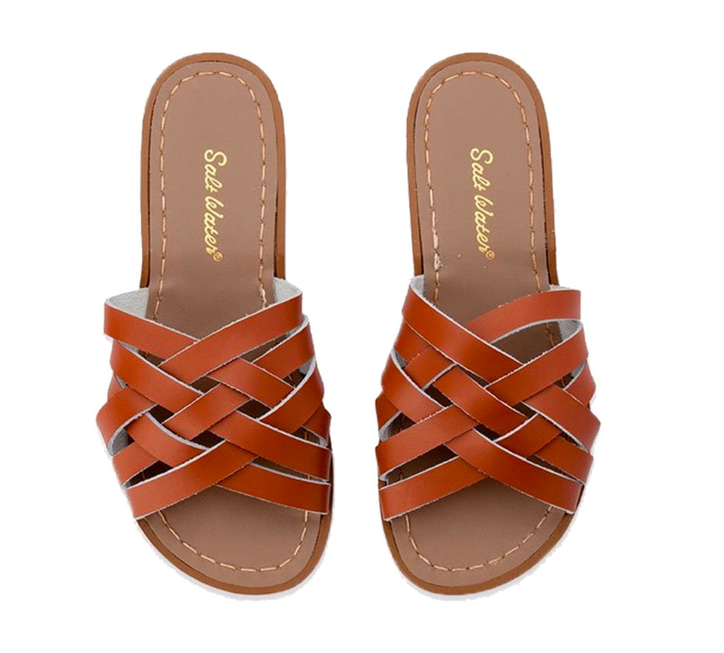 Saltwater sandals women's retro slides - Tan