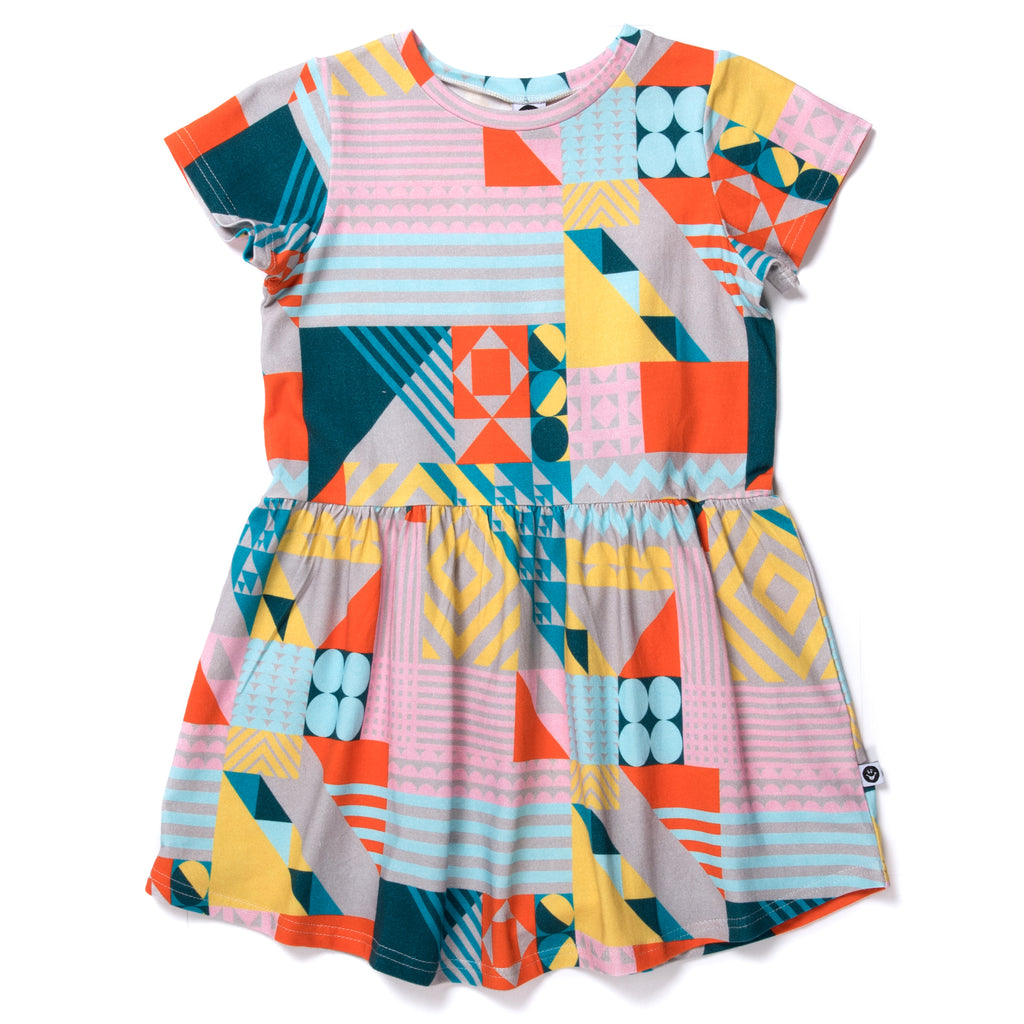 Little horn mosaic dress
