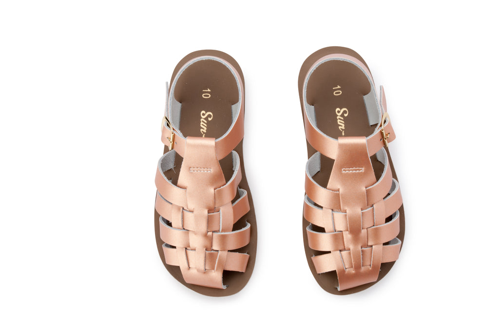 Salt water sandals sun san sailor rose gold