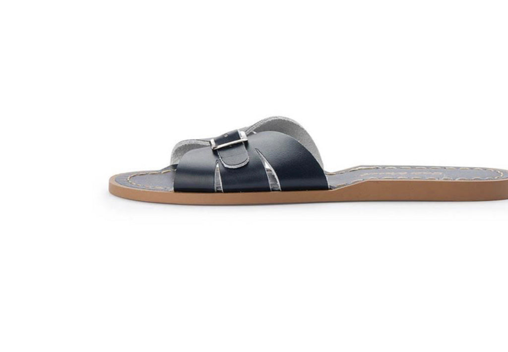 salt water sandals women's slides - navy
