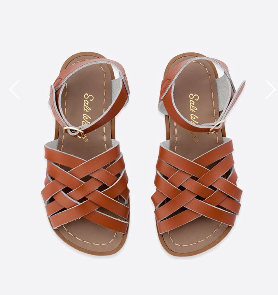 Saltwater sandals women's retro sandals - tan