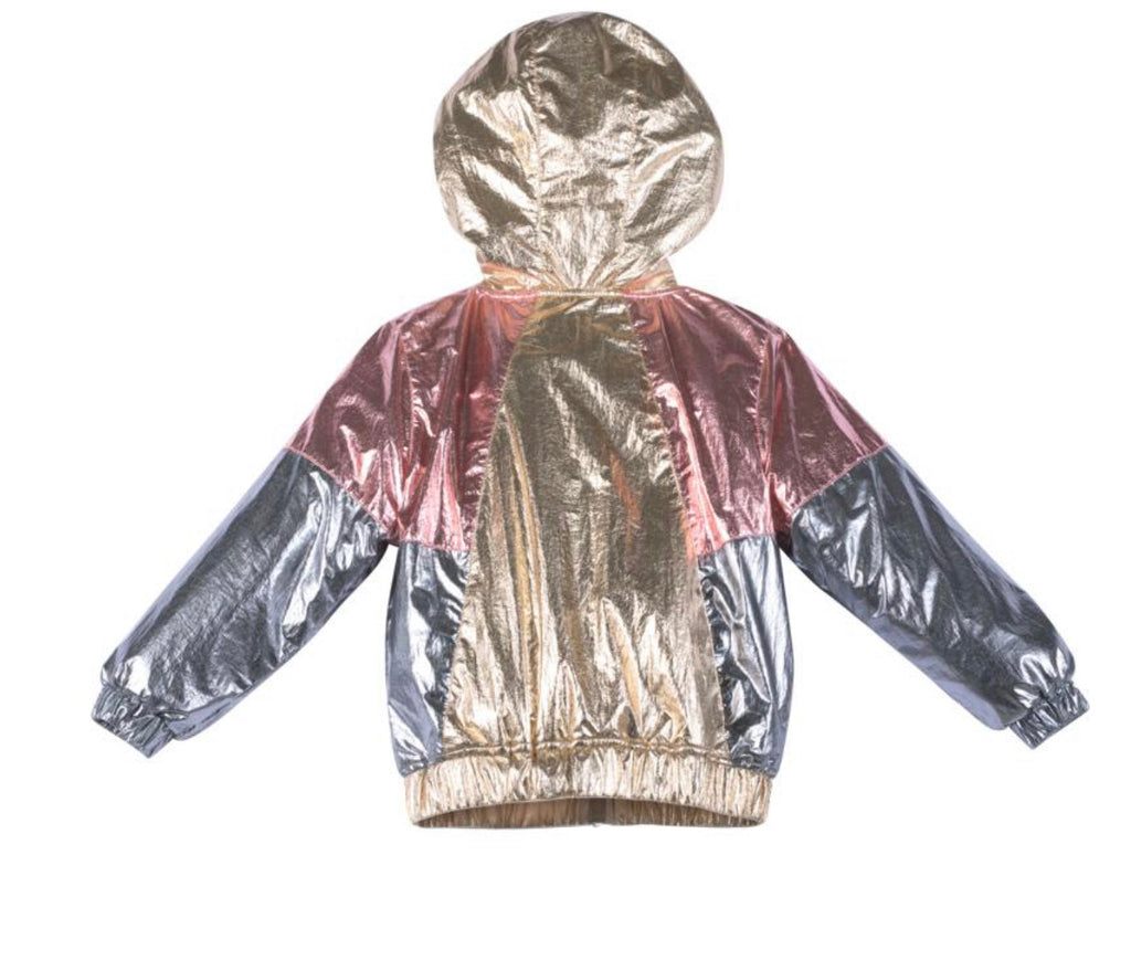 Paper wings metallic spray jacket