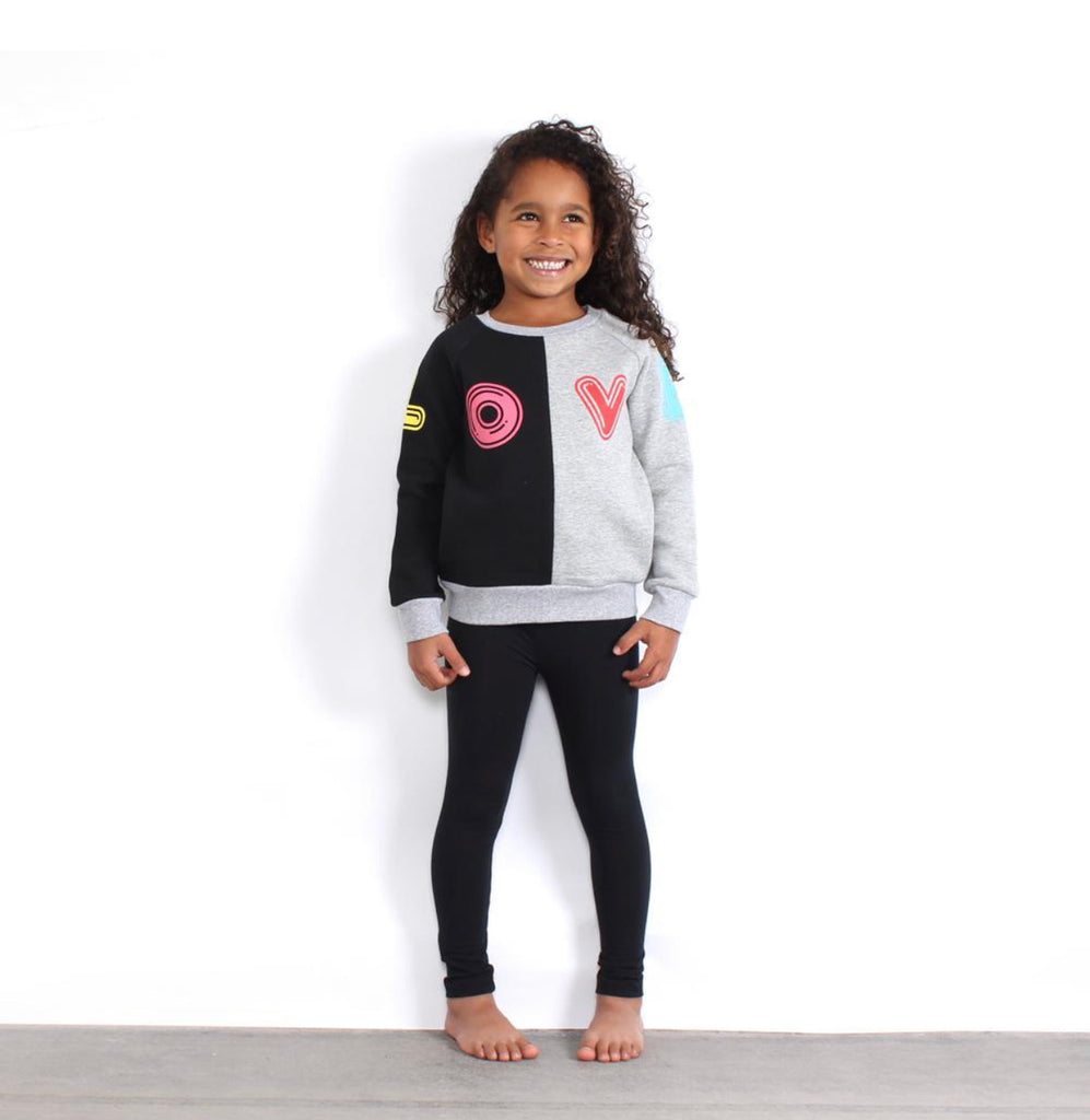 TINY TRIBE LOVE SEGMENT SWEAT TOP