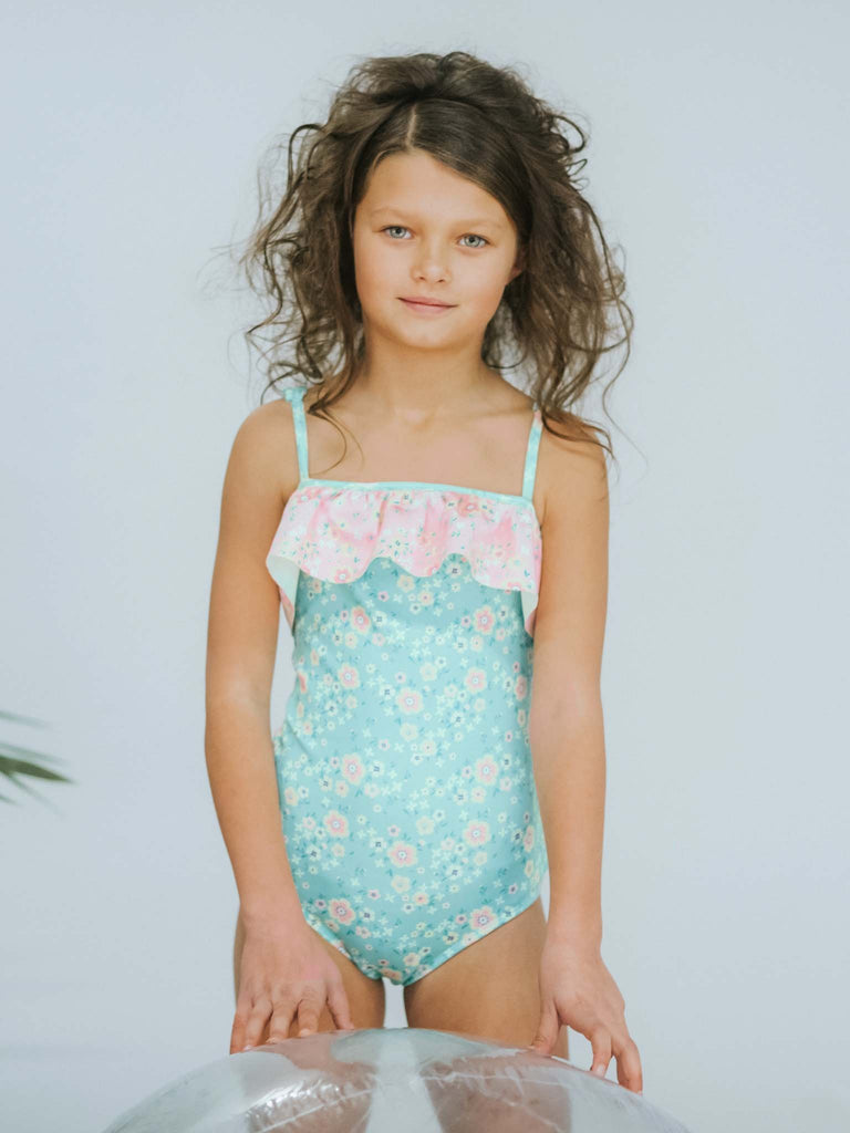 Oobi - Mermaid Seaflower SPF50 Adjustable Ruffle Swimsuit