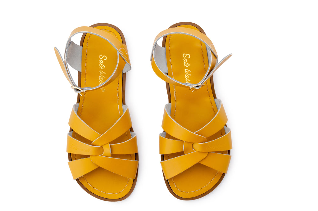 salt water sandals women's mustard