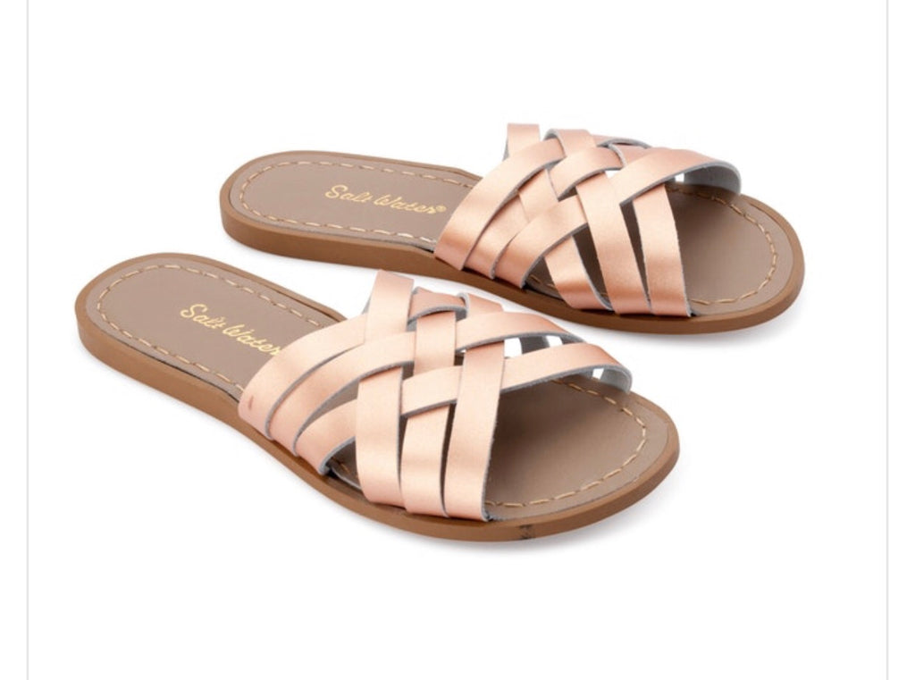 Saltwater sandals women's retro slides - rose gold