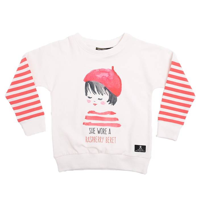Rock Your Baby - Raspberry Beret LS Tee