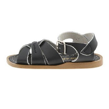 salt water sandals children's black