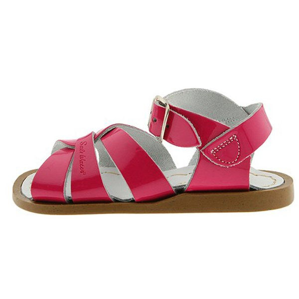 salt water sandals children's shiny fuchsia